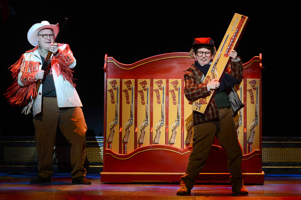 "Chris Carsten, left, and Colton Maurer in ""A Christmas Story: The Musical."" (Gary Emord Netzley)"