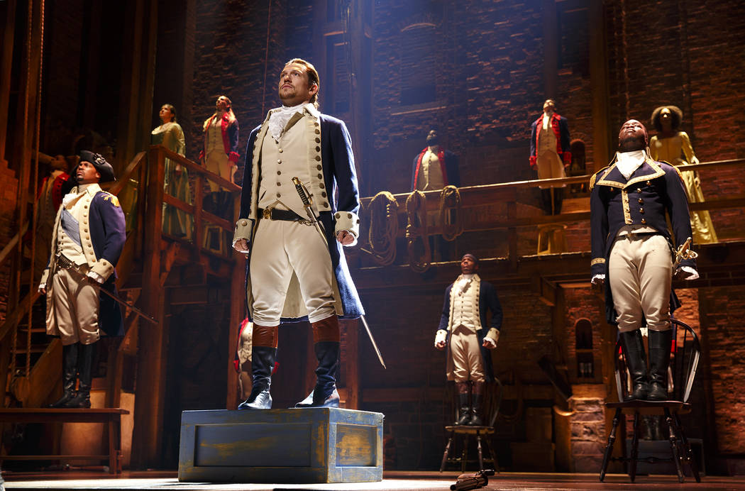 "The Chicago Company of ""Hamilton."" (Joan Marcus)"