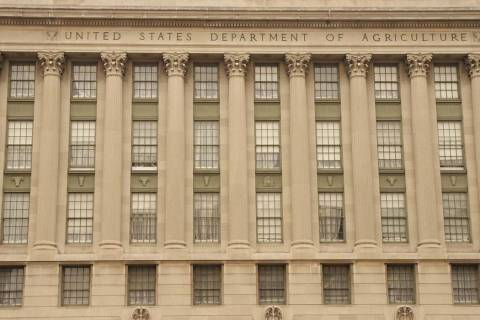 Front facade of the Department of Agriculture in downtown Washington D.C. (Getty Images)