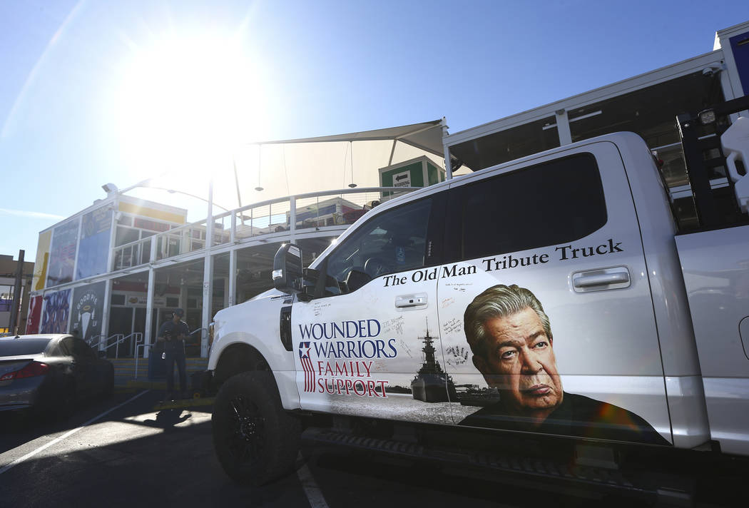 """A view of """"The Old Man Truck,"""" which was gifted to Navy veteran and Purple Heart reci ..."""