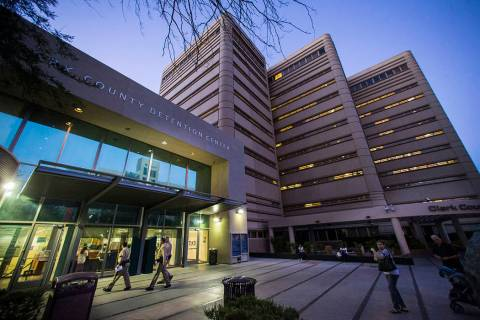 Clark County Detention Center in downtown Las Vegas (Chase Stevens/Las Vegas Review-Journal)