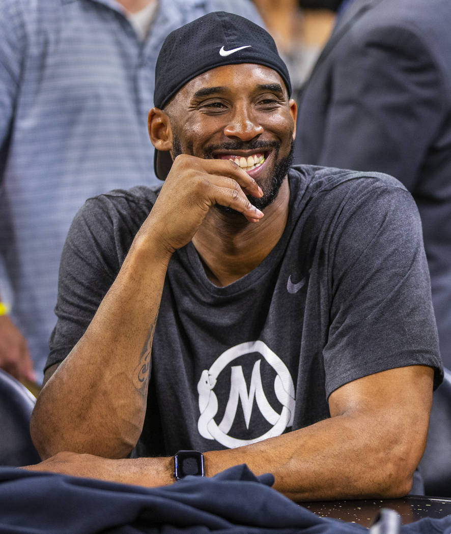 Former Los Angeles Laker Kobe Bryant is on hand to support his good friend Los Angeles Sparks h ...