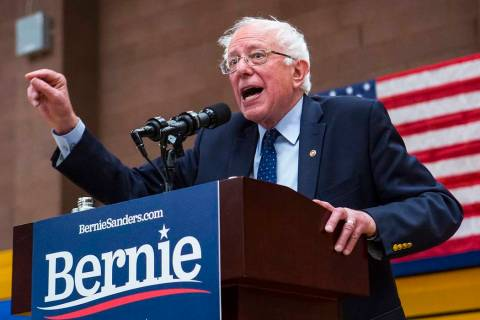 Democratic presidential candidate Sen. Bernie Sanders, I-Vt. (Chase Stevens/Las Vegas Review-Jo ...
