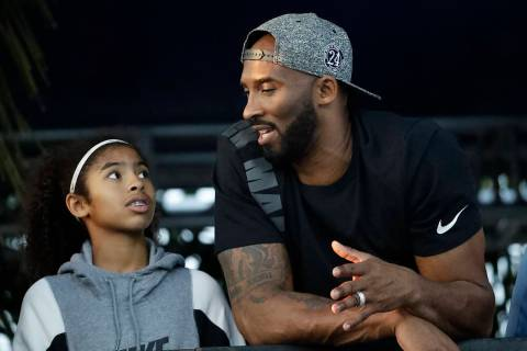 In this July 26, 2018 file photo former Los Angeles Laker Kobe Bryant and his daughter Gianna w ...