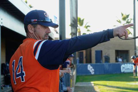 Orange Coast College head baseball coach John Altobelli. (Orange Coast College via AP)
