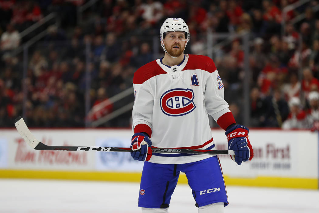 Montreal Canadiens Defenseman Jeff Petry Plays Against The Detroit Red Wings In The First Perio Las Vegas Review Journal