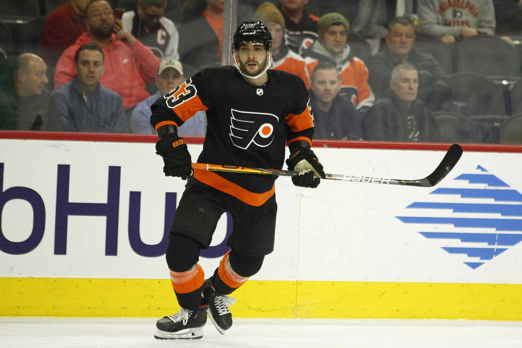 Philadelphia Flyers' Shayne Gostisbehere during an NHL hockey game, Monday, Dec. 23, 2019, in P ...