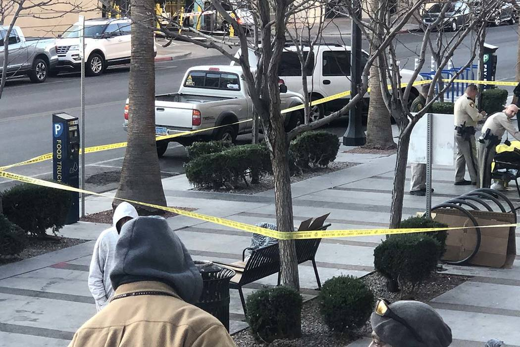 The body of a person believed to be transient was found on a bench outside the RegionalJustic ...