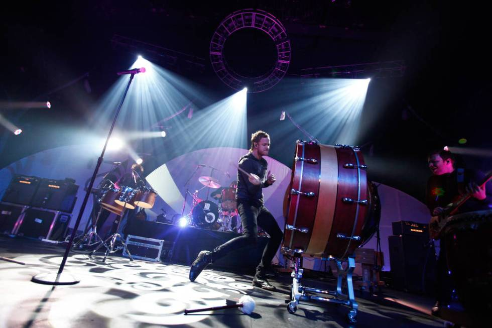 Imagine Dragons perform at The Joint at the Hard Rock Hotel in Las Vegas on Saturday, Feb. 9, 2 ...