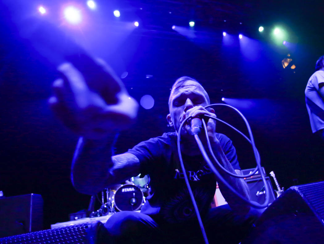Jacob Bannon of Converge performs during the Psycho Las Vegas music festival at the Hard Rock h ...