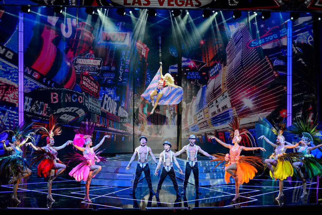 """A scene from """"Extravaganza -- The Las Vegas Spectacular,"""" which opens at Jubilee Theater at Bal ..."""