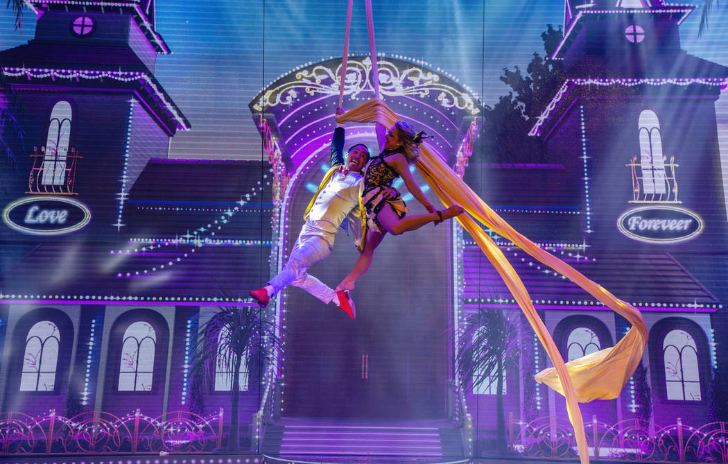 "A scene from ""Extravaganza -- The Las Vegas Spectacular,"" which opens at Jubilee Theater at Bal ..."