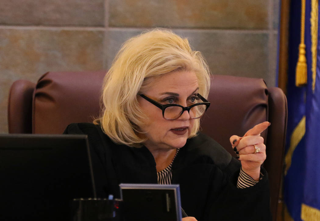 Judge Michelle Leavitt presides during jury selection in the trial of Ray Charles Brown, who fa ...