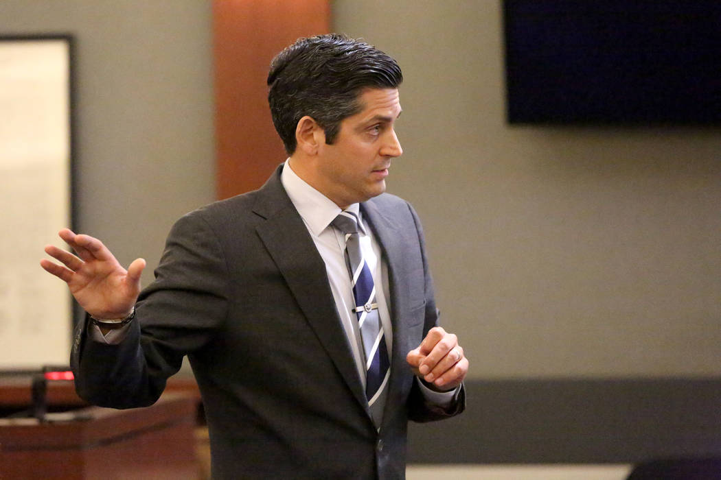Defense attorney Richard Tanasi addresses the jury during opening statements at the trial of Ra ...
