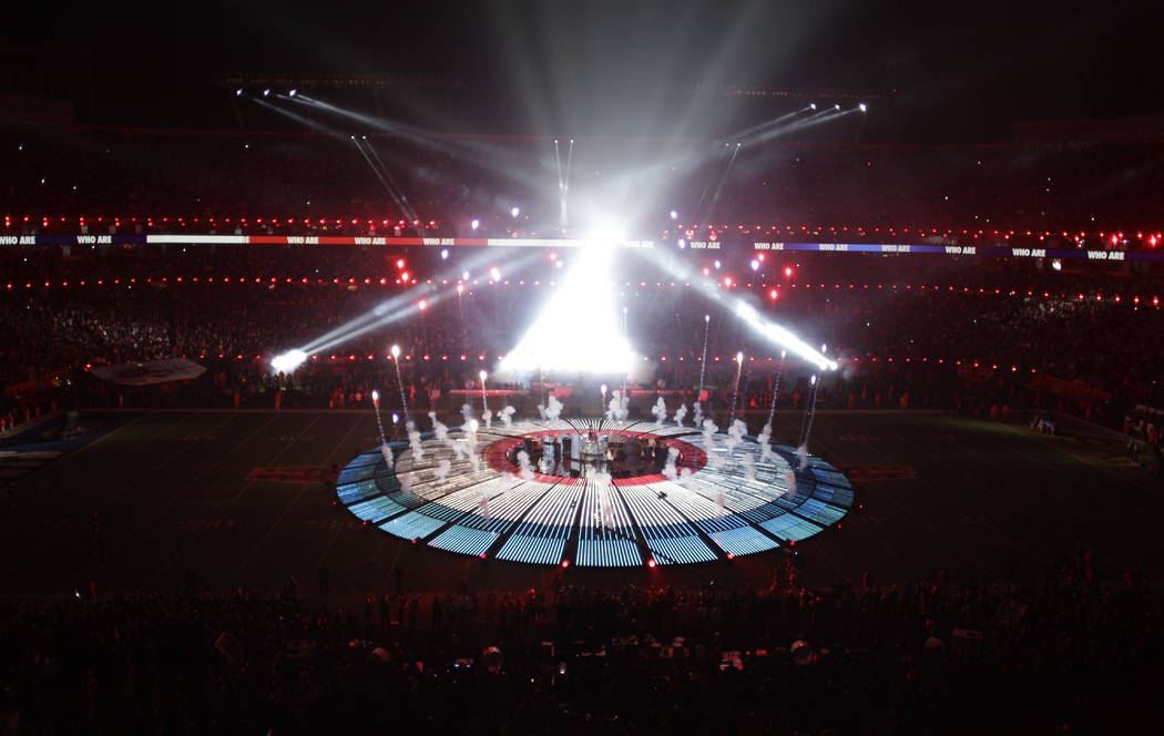 The Who performs during halftime of the NFL Super Bowl XLIV football game in Miami, Sunday, Feb ...