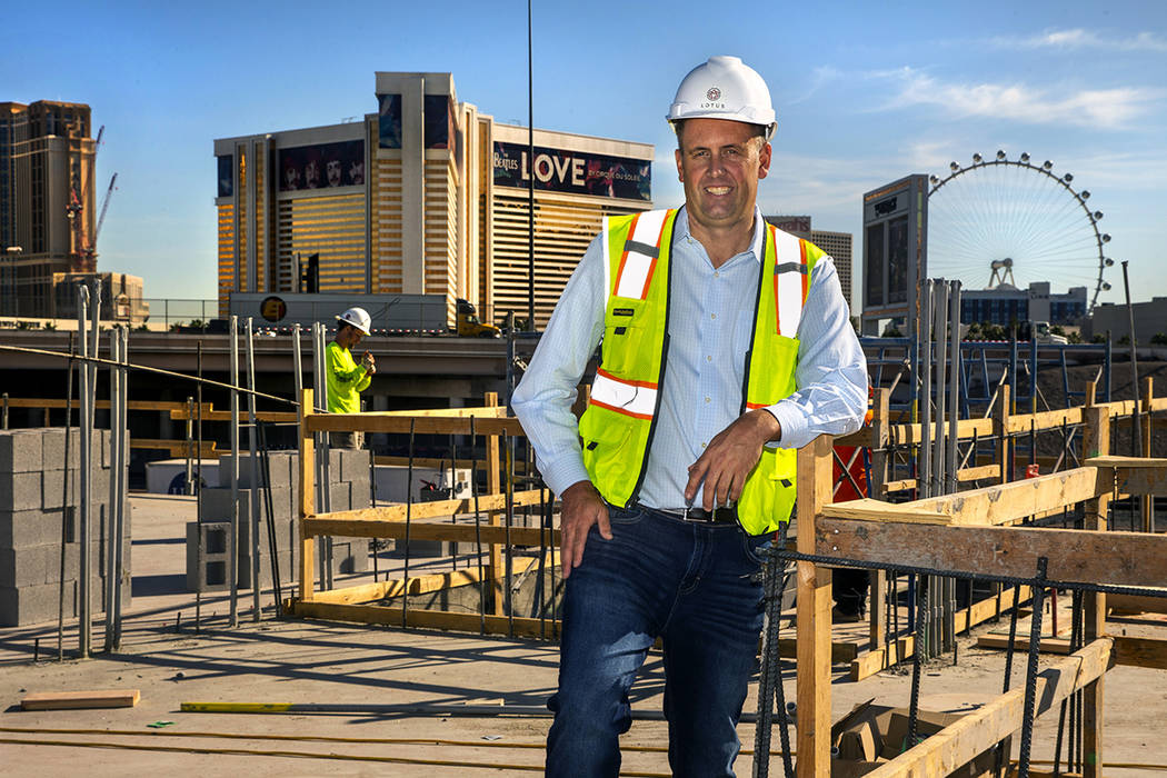Developer Jonathan Fore at his new apartment complex currently under construction off Morgan Ca ...