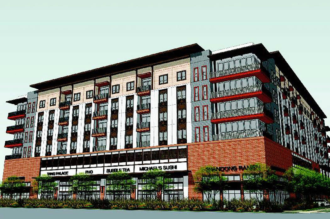 Developer Jonathan Fore wants to build an apartment complex in Las Vegas' Chinatown area called ...