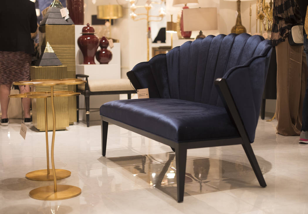 An example of the blue trend for the coming year at the Currey & Company booth at the Las V ...