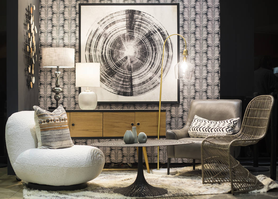 A set decorated with trends for the coming year at the Las Vegas Market in Las Vegas, Monday, J ...