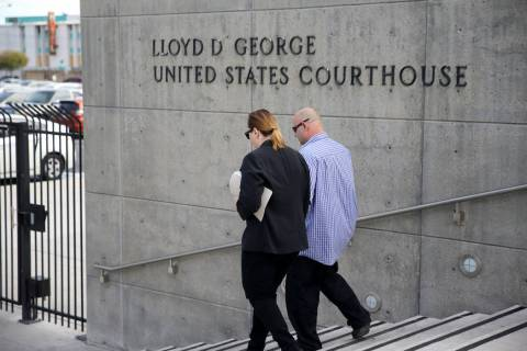 A power outage at the Lloyd D. George Courthouse at 333 Las Vegas Boulevard South shut down the ...