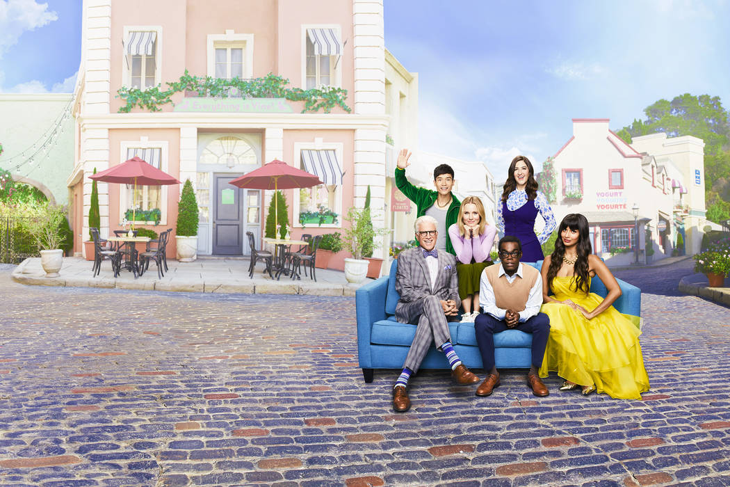 """THE GOOD PLACE -- """"Marketing Gallery"""" -- Pictured: (l-r) -- (Photo by: Andrew Eccles/NBC)"""