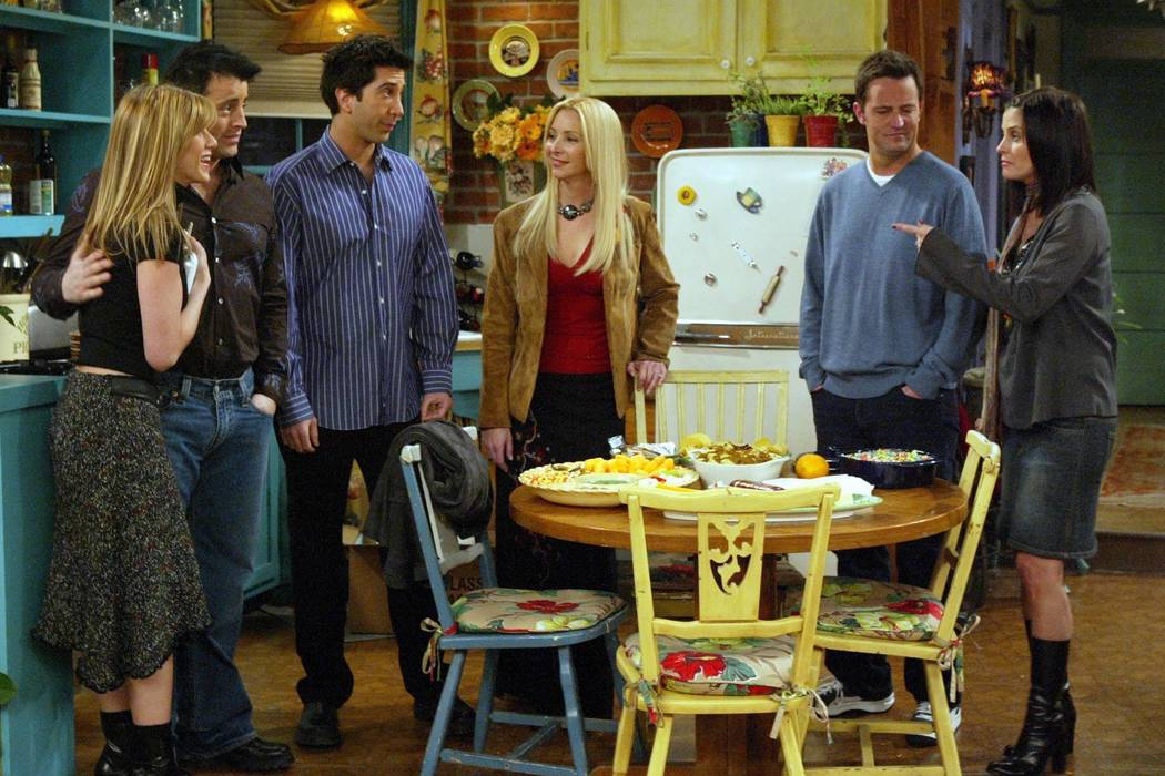 """** ADVANCE FOR WEDNESDAY, MAY 5 ** The cast of NBC's """"Friends"""" appears in this scene ..."""