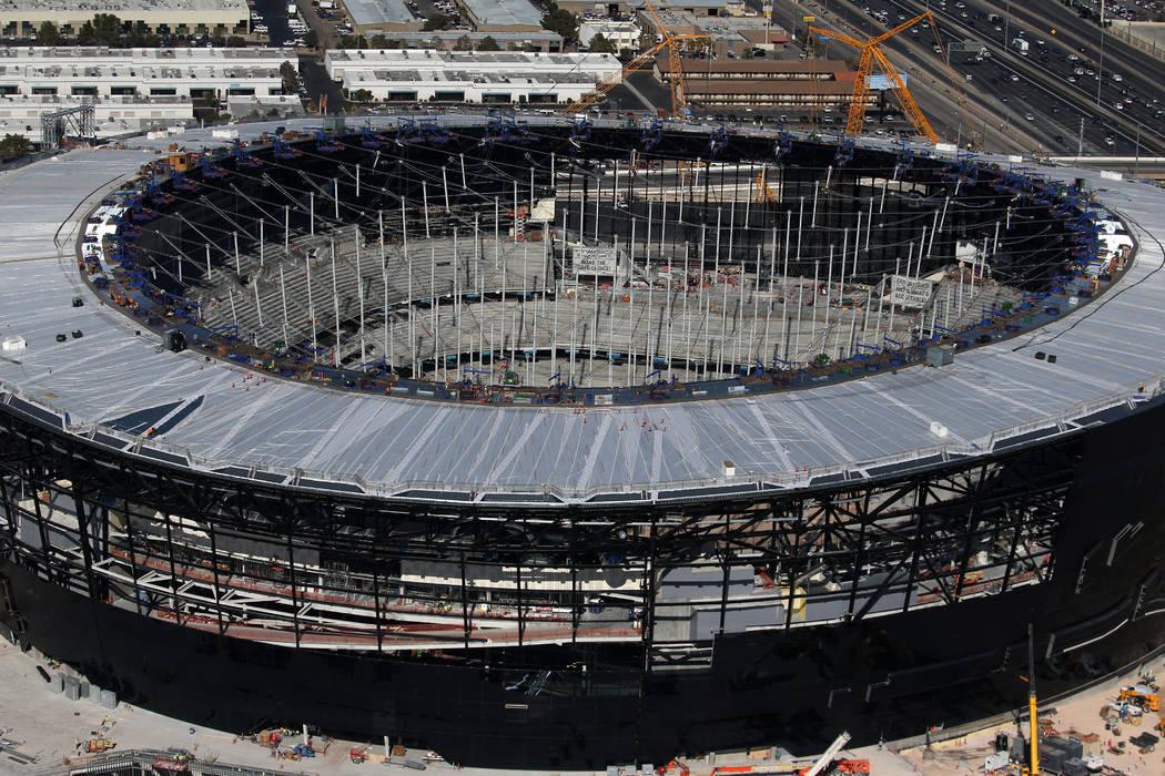 The Raiders Allegiant Stadium in Las Vegas, Thursday, Jan. 23, 2020. (Erik Verduzco/Las Vegas R ...