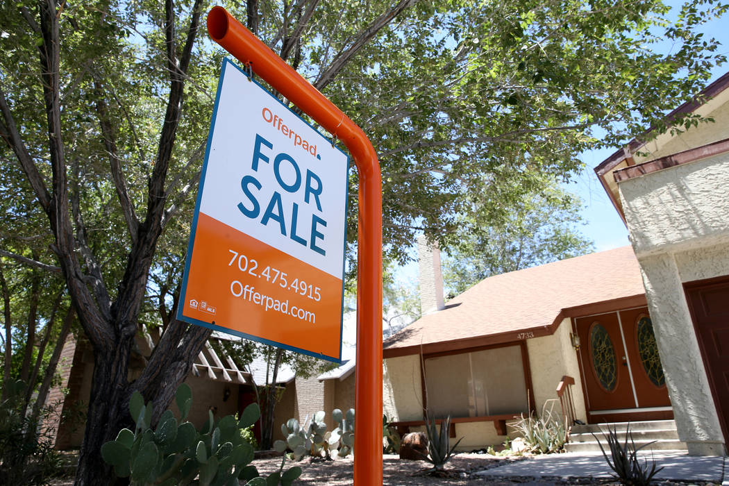 Home prices in the Las Vegas area rose at one of the slowest rates in the nation in November. ( ...