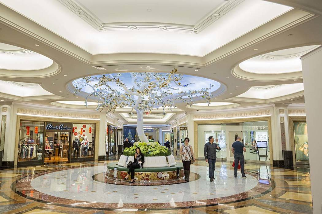 People pass through the newly renovated Grand Canal Shoppes in Las Vegas on Friday, Jan. 24, 20 ...