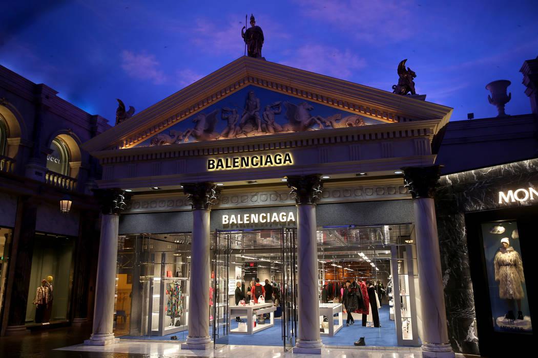 Balenciaga store inside the Forum Shops at Caesars in Las Vegas Monday, Jan. 27, 2020. (K.M. Ca ...