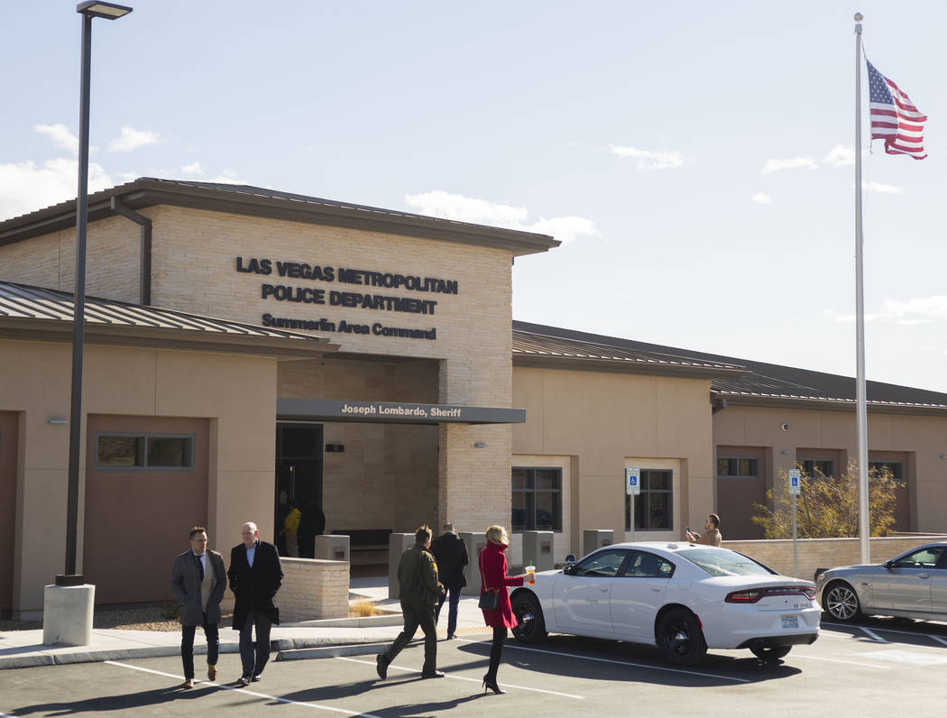 The new Summerlin Area Command is seen during the official grand opening on Wednesday, Jan. 29, ...