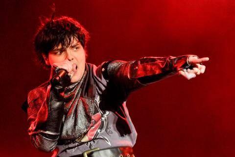 Gerard Way of My Chemical Romance performs during day 1 of the Voodoo Experience at City Park o ...