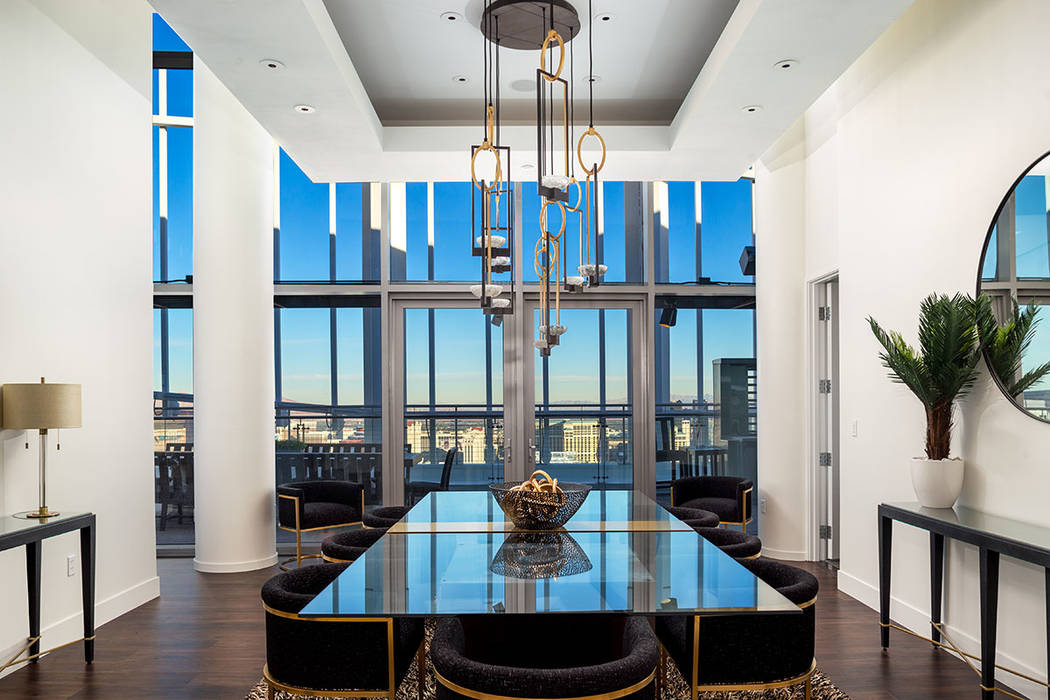 The 59th-floor party pad penthouse adjacent to the Palms casino was owned by Phil Maloof. (Turn ...