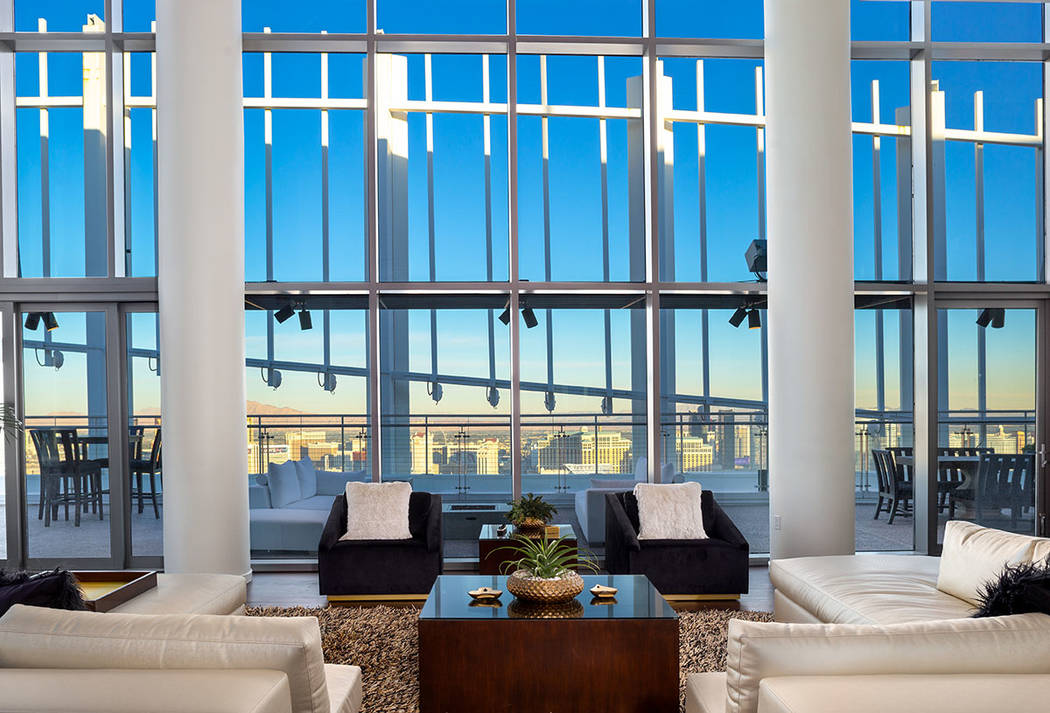 The penthouse has sweeping views of the Las Vegas Valley. (Turnkey Pads)