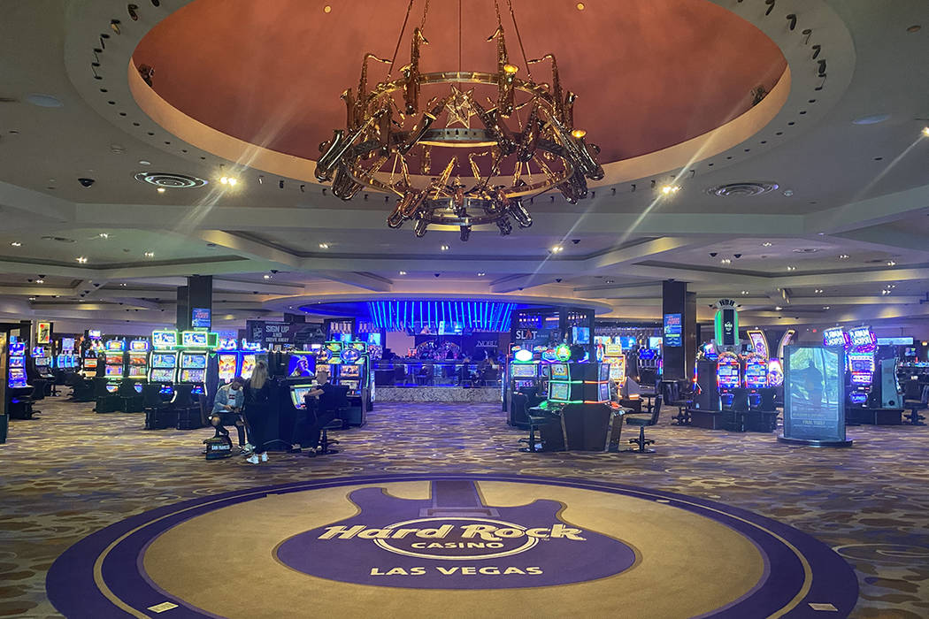 The entrance of Hard Rock Hotel is shown on Wednesday, Jan. 29, 2020. (John Katsilometes/Las Ve ...