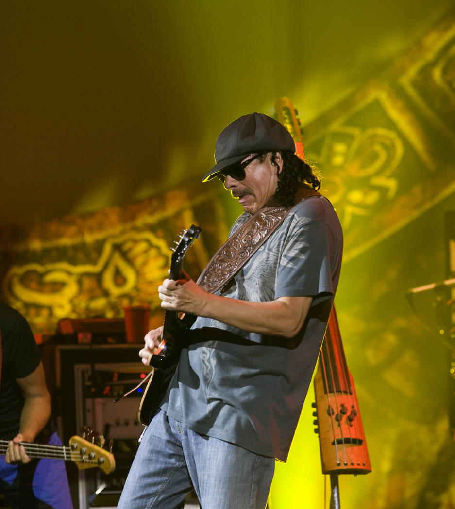 Guitar legend Carlos Santana performs during his Supernatural Santana show at The Joint to cele ...
