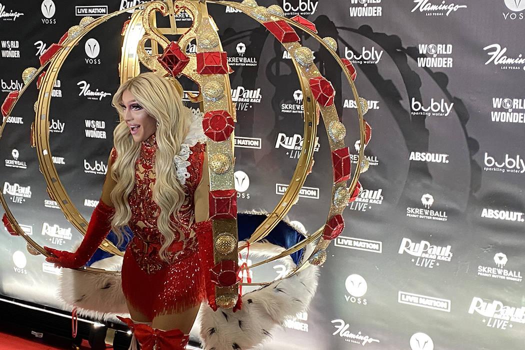 "Cutline: ""RuPaul's Drag Race Live!"" cast member Kameron Michaels is shown on the red carpet of ..."