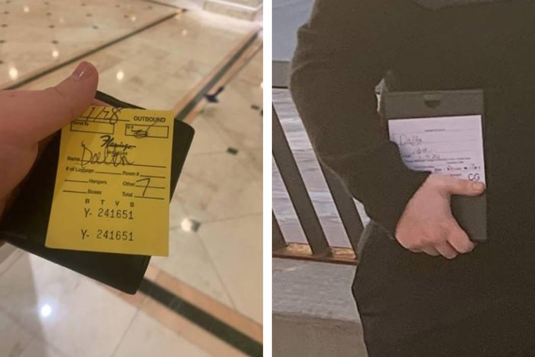 The voucher for the luggage of the Dalton family. (Dan Dalton)
