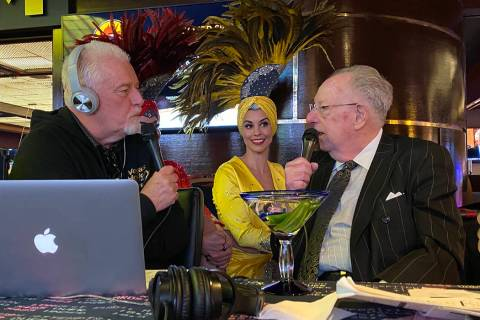 Radio host Brian Blessing and Oscar Goodman are shown at Westgate's Superbook on Thursday, Jan. ...