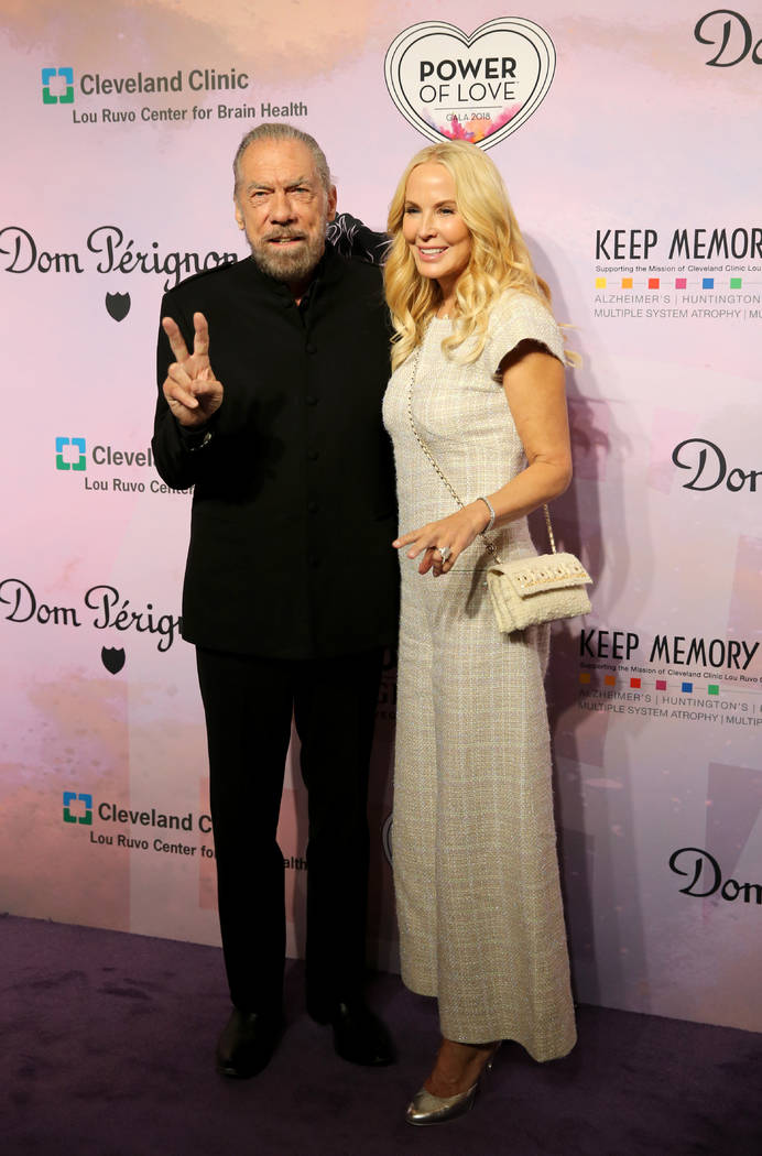 John Paul DeJoria, CEO and co-founder of John Paul Mitchell Systems, and his wife, Eloise Broad ...
