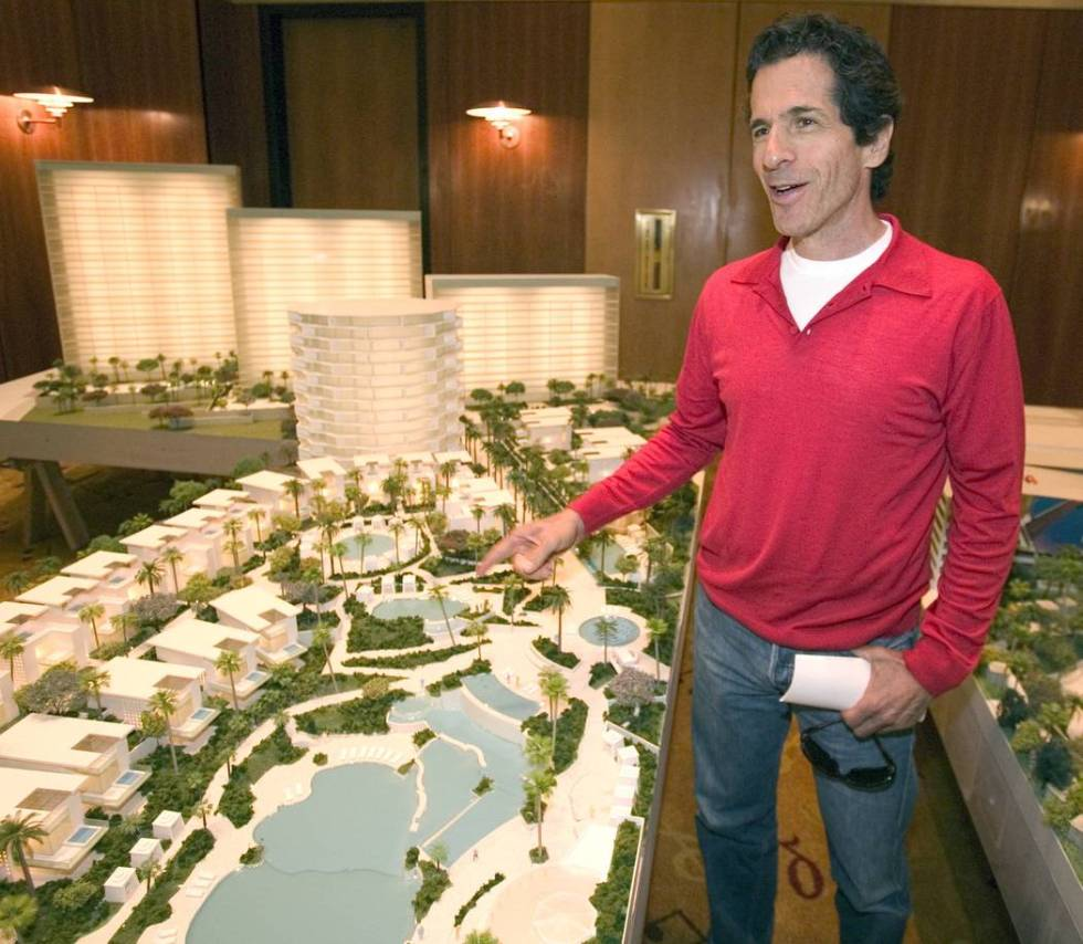 Peter Morton discusses the expansion of the Hard Rock Hotel during a press conference on Saturd ...
