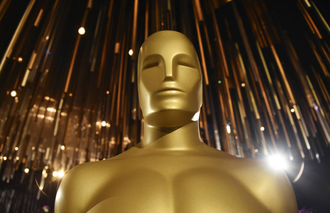 An Oscar statue is pictured at the Governors Ball Press Preview for the 92nd Academy Awards at ...