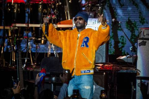 Juicy J performs during the tribute event Mac Miller: A Celebration of Life on Wednesday, Oct. ...