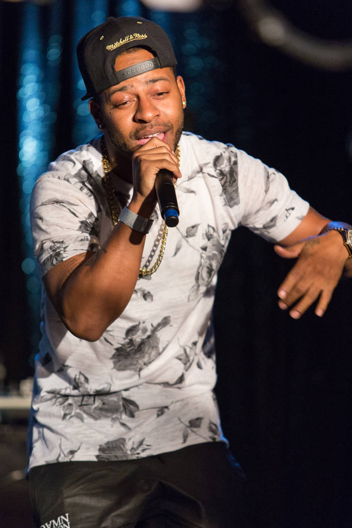 Singer Eric Bellinger performs on stage during filming of SKEE Live on Tuesday January 14, 2014 ...