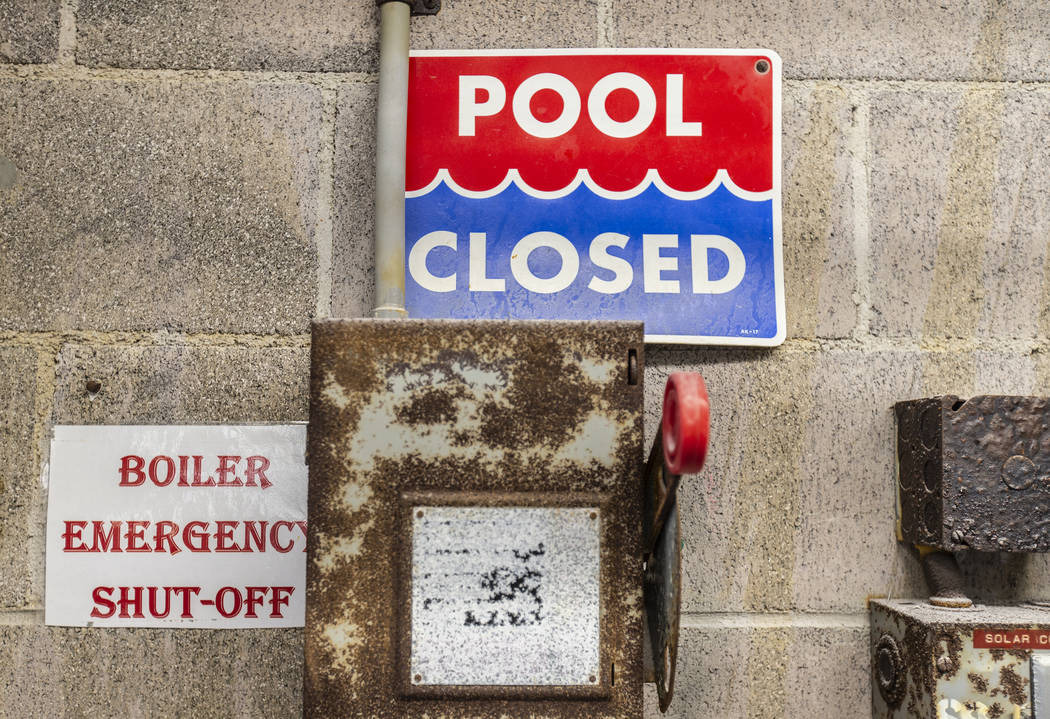 Rusty, outdated equipment in the pump room at Boulder City Pool Thursday, Jan. 16, 2020, in Bou ...