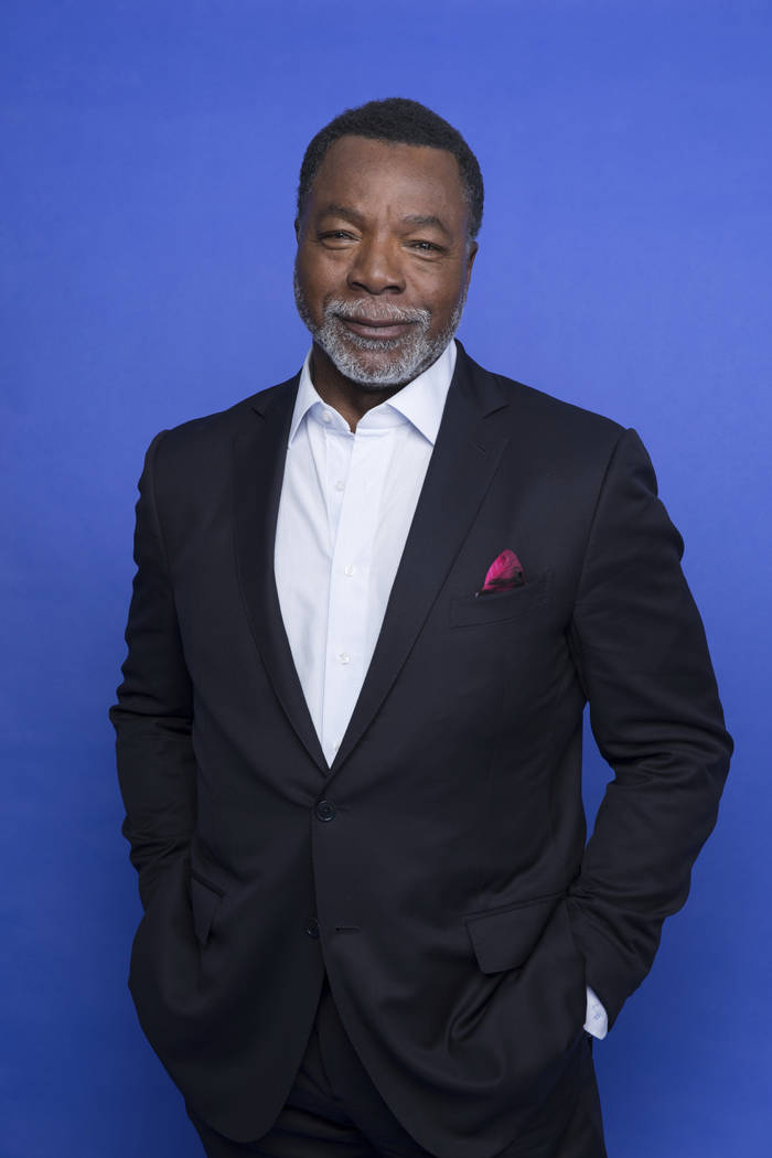 """This Oct. 19, 2019 photo shows Carl Weathers at the Disney Plus launch event promoting """"Th ..."""