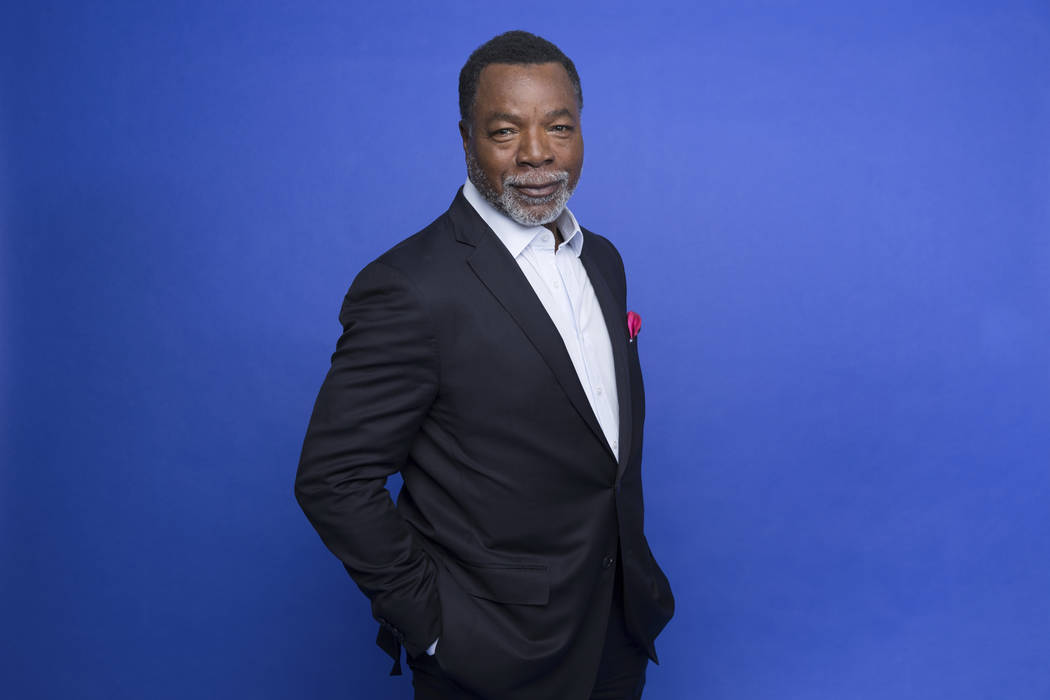 """This Oct. 19, 2019 photo shows Carl Weathers at the Disney Plus launch event promoting """"The Man ..."""