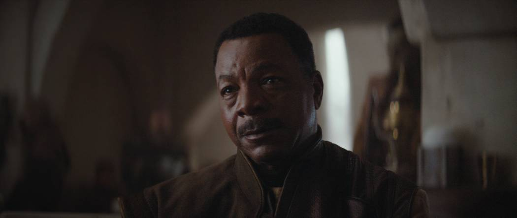 """Carl Weathers appears in a scene from """"The Mandalorian."""" (Lucasfilm)"""