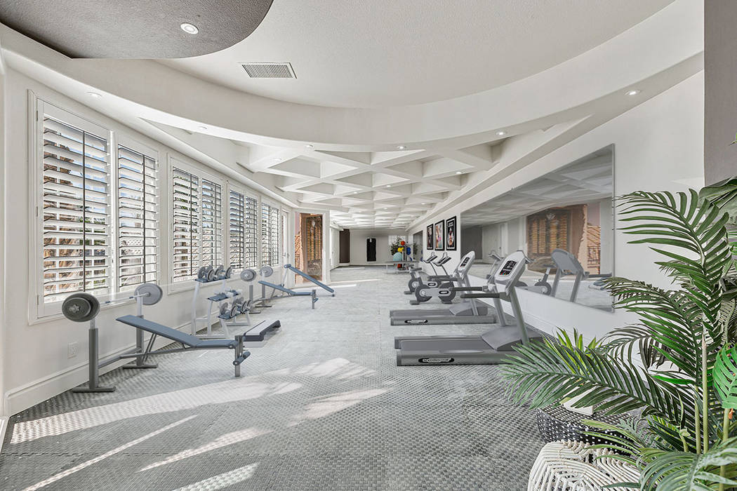 The upper level features a gym with 1-inch-thick flooring. (Red Luxury Real Estate)
