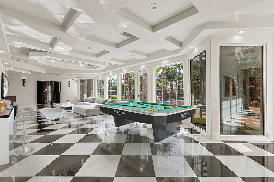 The home has a two-story, 3,000-plus-square-foot entertainment wing. (Red Luxury Real Estate)